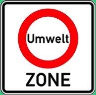 Traffic Sign Umwelt ZONE